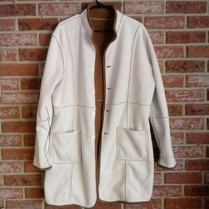 NWOT Susan Graver fleece reversible long coat
